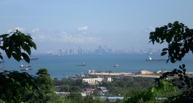 Singapore viewed from Batam
